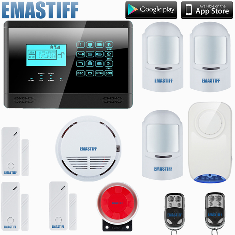 Wireless GSM Alarm system Home security Alarm systems with LCD Keyboard Pet PIRSensor alarm лампа светодиодная эра f led