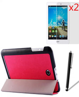 Luxury Ultra Slim Magnetic Folio Stand Leather Case Smart Cover 2x Screen Protector Stylus For Acer