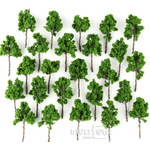25pcs HO Z Scale 1:120 To 1:250 Model Tree For Railroad Build Park Street Layout