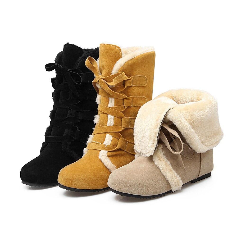 52 De Mujer Zapatos Gruesa Alta Botas Nuevas Medias Patente Tamaño Beige amarillo Nieve 509 Calidad Gran Rusia 34 2017 negro Invierno zE87q6wq