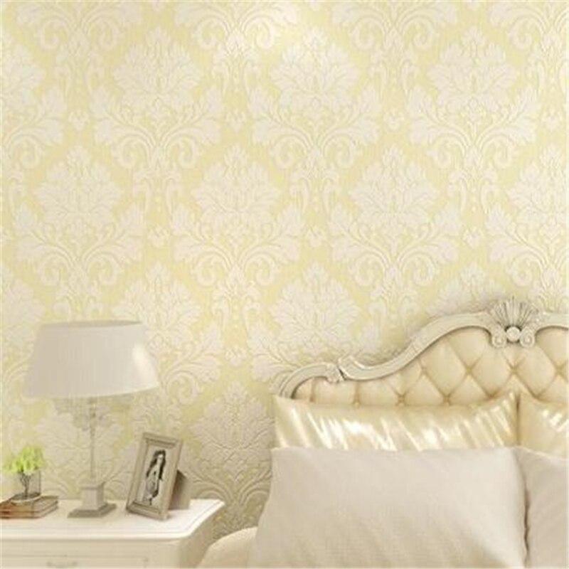 beibehang Papel de parede 3D European luxury relief flower non-woven Damascus wallpaper bedroom living room sofa background