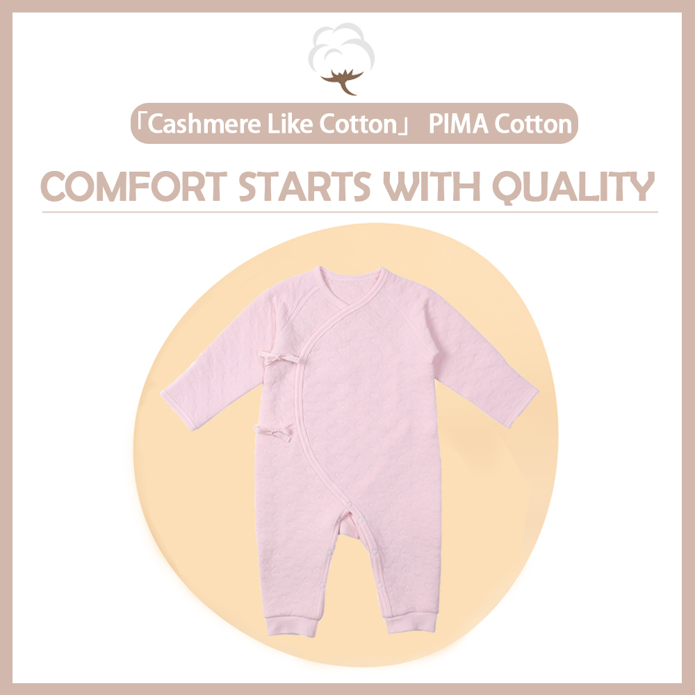 i baby Premium Matelasse PIMA COTTON Baby Romper Cashmere Like Cotton Outfit Long Sleeve Newborn Cloth Packed in Box in Rompers from Mother Kids