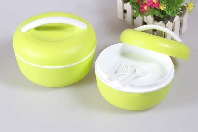 Circle Portable Tableware Double Layer Dinnerware Sets Baby Food Storage Box plastic food storage containers Lunch : dinnerware storage containers - pezcame.com