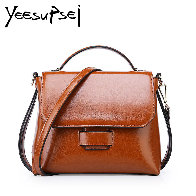 YeeSupSei Top-Handle Bag Genuine Leather Luxury Cover Women Bag Designer Shoulder Bag joker Women Fashion Flap Bag contracted wholetide 10 marriage gauze bag bag joker bag silver rose