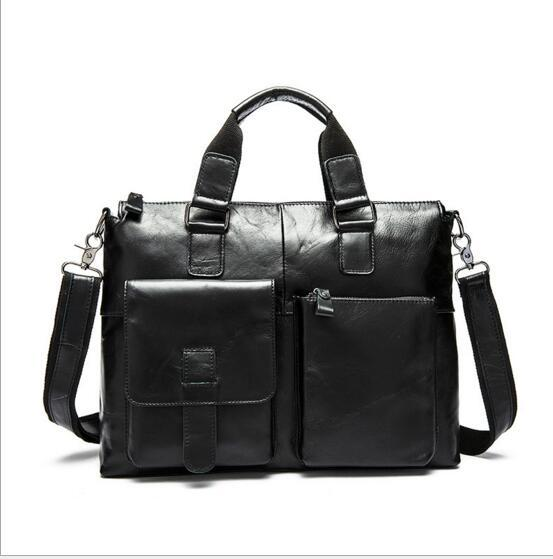 Genuine Leather Bag Fashion Handbags Cowhide Men Crossbody Bags Men's Travel Bag Tote Laptop Briefcases Men Bags 260 yishen genuine leather bag men bag cowhide men crossbody bags men s travel shoulder bags tote laptop briefcases handbags bfl 048