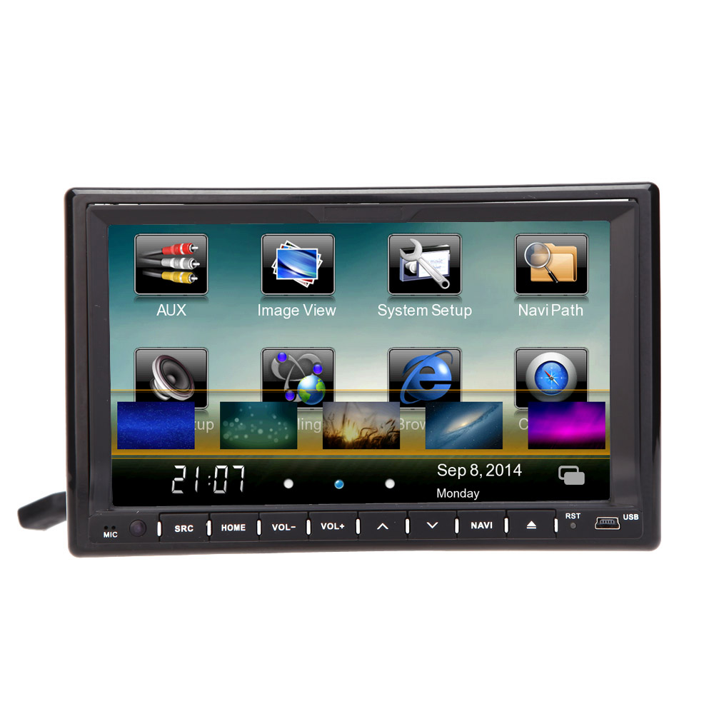 3G WiFi Android Bluetooth GPS Car DVD Player Universal 7 Inch 2 Din ...