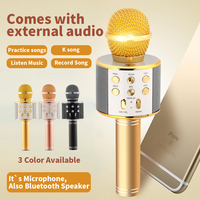 WSTER WS858 Bluetooth Wireless Condenser Karaoke Microphone Mobile Phone Player MIC Music HIFI Speaker Recordfor For