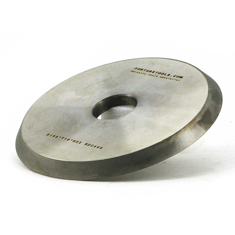 One piece 1V1 electroplated diamond and CBN grinding wheel for glass shaping tungsten carbide metal carbon steel grinding DZ 1 piece electroplated diamond coated abrasive grinding wheel of round n straight edge for 3 12mm glass shape edging machine tz74