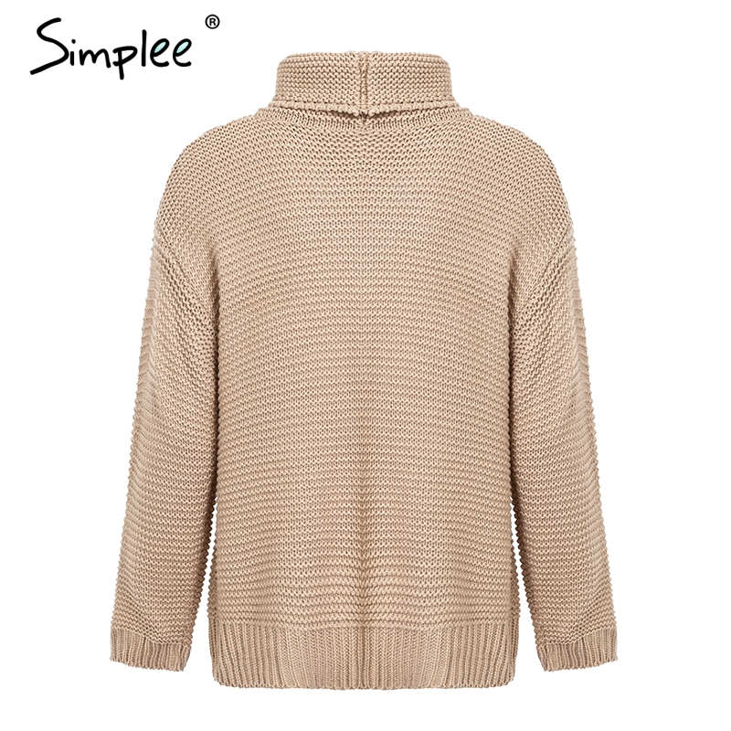 Drop sleeve turtleneck pullovers and sweaters