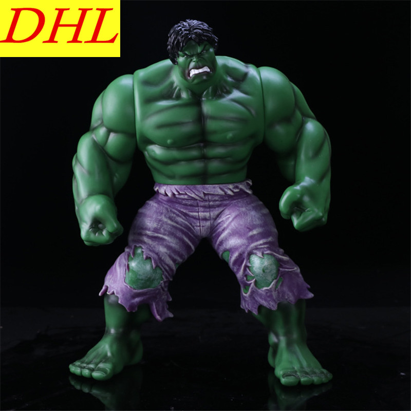 35CM Avengers:Infinity War Incredible Hulk Superhero Robert Bruce Banner PVC Action Figure DC Comics Collectible Model Toy L2016 statue avengers superhero hulk 1 4 bust robert bruce banner head portrait resin action figure collectible model toy w75