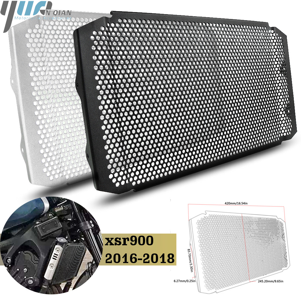 XSR900 16 18 Motorcycle Parts Aluminum Radiator Grille Guard Protection Cover For Yamaha XSR900 XSR 900 2016 2017 2008 Black-in Covers & Ornamental Mouldings from Automobiles & Motorcycles