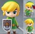 The Legend of Zelda Jogo Legend of Zelda Link Nendoroid PVC Action Figure Q Ver. Zelda Ligação Collectible Modelo Toy Boneca. GH052