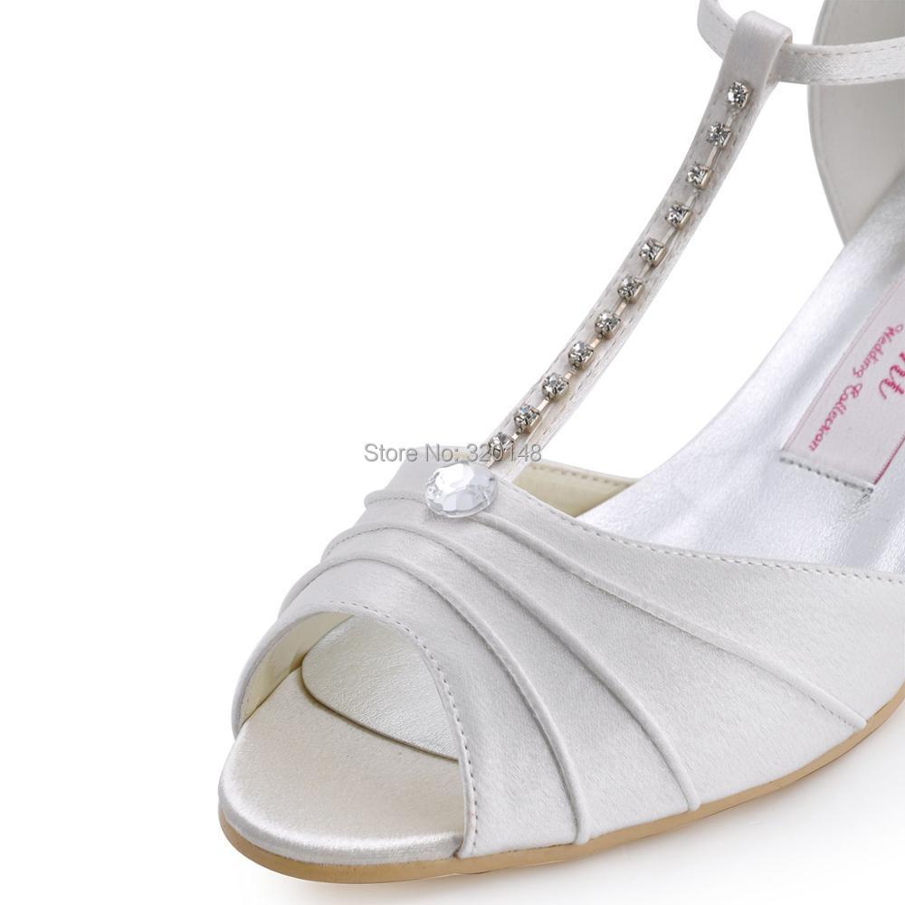 dc04515f4d27 ... Shoes Low Heel T-Strap Pumps Satin Lady Bride Prom Evening pumps red  blue EL-035. Previous. Next