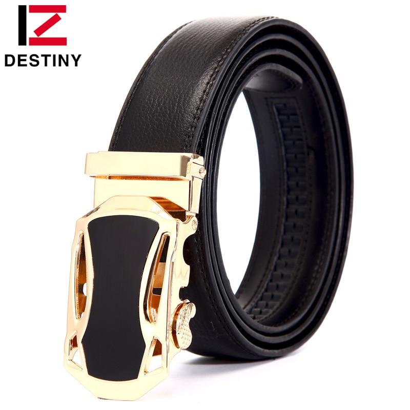 DESTIN véritable en cuir ceinture hommes de luxe célèbre marque designer ceintures  hommes haute qualité taille sangle mâle pour jeans or argent 0abbf301d77