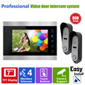Homefong 7inch Video Door Phone Intercom Video Eye 1 Indoor Monitor+2 800TVL HD  Doorbell Camera Video Doorbell System