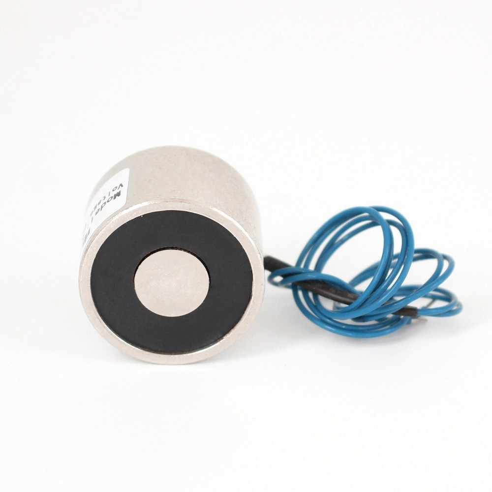 High quality 10KG 30/22 DC 6V 24V 12V Electromagnet Lifting Solenoid Sucker Holding Electric Magnet,accept Non-standard custom