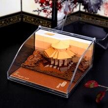 Kreatywny piękny notatnik architektoniczny kreatywny papier rzeźba uwaga notatnik Plaid papier starożytny styl prezent miłosny prezent urodzinowy