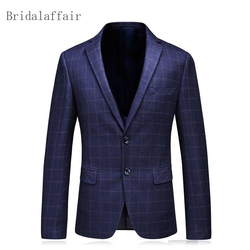 Bridalaffair same Blazer Image Pour Élégants Veste De Costume Fit Plaid Treillis Image Slim Casual Blazers As Un Hommes Bouton 2018 Same rHqxgfw1r