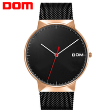 DOM Watches Men Top Luxury Brand Mesh Band Fashion Men's Watches Ultra Thin Minimalist Style Quartz Wristwatch Stainless Steel стоимость