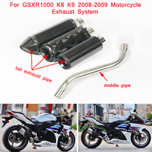 GSXR1000 K8 K9 Motorcycle Stainless Steel Middle Connecting Pipe Slip On for Suzuki 2008 2009
