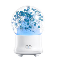 2018 Ultrasonic Aromatherapy Diffuser Immortal Flower Aroma Oil Difusor Cool Mist Mini Humidifier With Led For