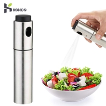 KONCO Stainless Steel Oil Sprayer, Cooking Sprayer for BBQ, Grill/Pan Greaser, Salad Dressing Mister Kitchen Contanier