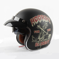New Arrival 2016 Vintage Motorcycle Helmet Retro Scooter Helmet Brand TORC Open Face Helmet 3 4
