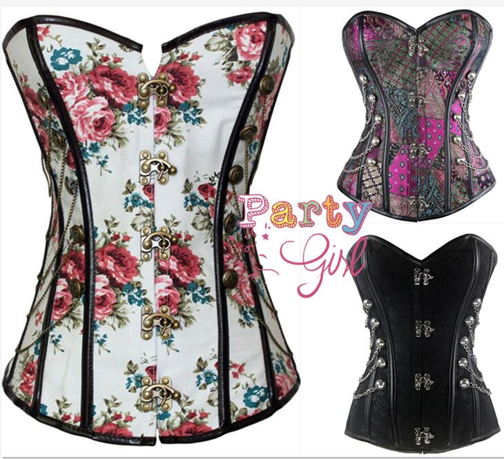 Corsage Steampunk   Corset   Sexy   Corsets   and   Bustiers   Slim Gothic Women Corselet   Corset   Steel Bone Plus Size Busiter S-6XL