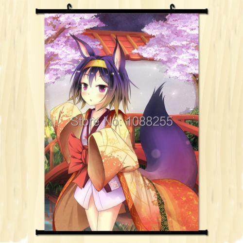 Home Decor Anime Japanese Poster Wall Scroll No Game No Life Hatsuse Idzuna Art