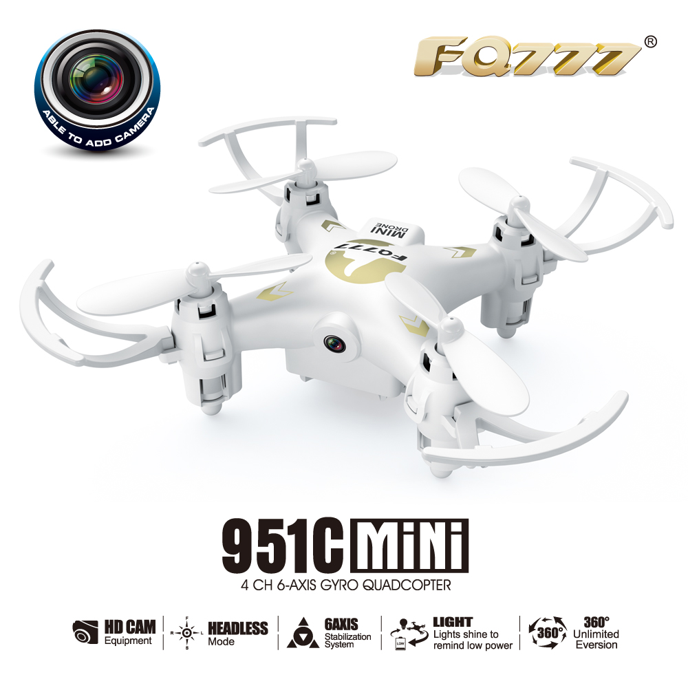 FQ777 951C MINI With 0 3MP Camera Headless Mode 2 4G 4CH 6 Axis RC Quadcopter RTF Support SD card F17687 in RC Helicopters from Toys Hobbies