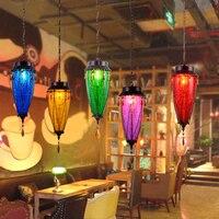 Диффузный кофе подвесные светильники баров, ресторанов Чайные домики Art витражи кафетерий декоративные lighing подвесной светильник za8301