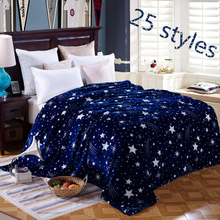 Home Textile Fashion coral fleece blankets on the font b bed b font 4 Size for