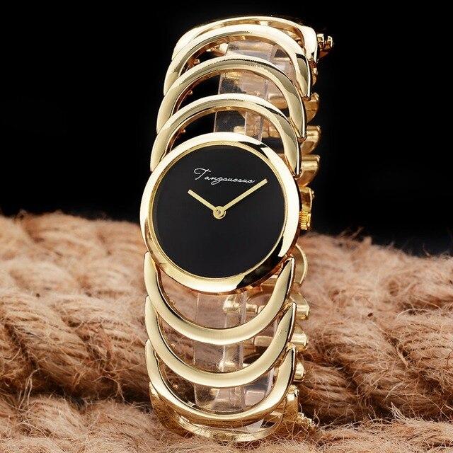 2017 New Luxury Brand Women Quartz Watches montre femme Gold Design Bracelet Wat