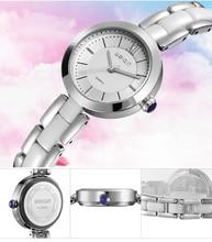 Weiqin moda relógios das mulheres ouro rosa branca de cerâmica pulseira de relógio de quartzo das senhoras da menina vestido wirstwatch à prova d' água