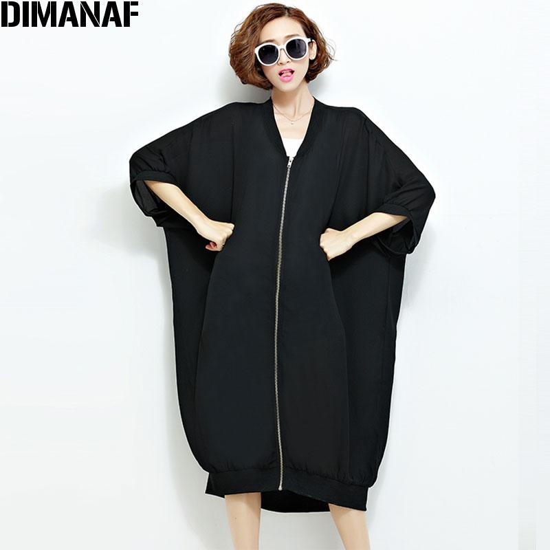 Ljeto Šifon Kaputi Ženska Duge džemper Plus veličina Čvrsta - Ženska odjeća - Foto 5