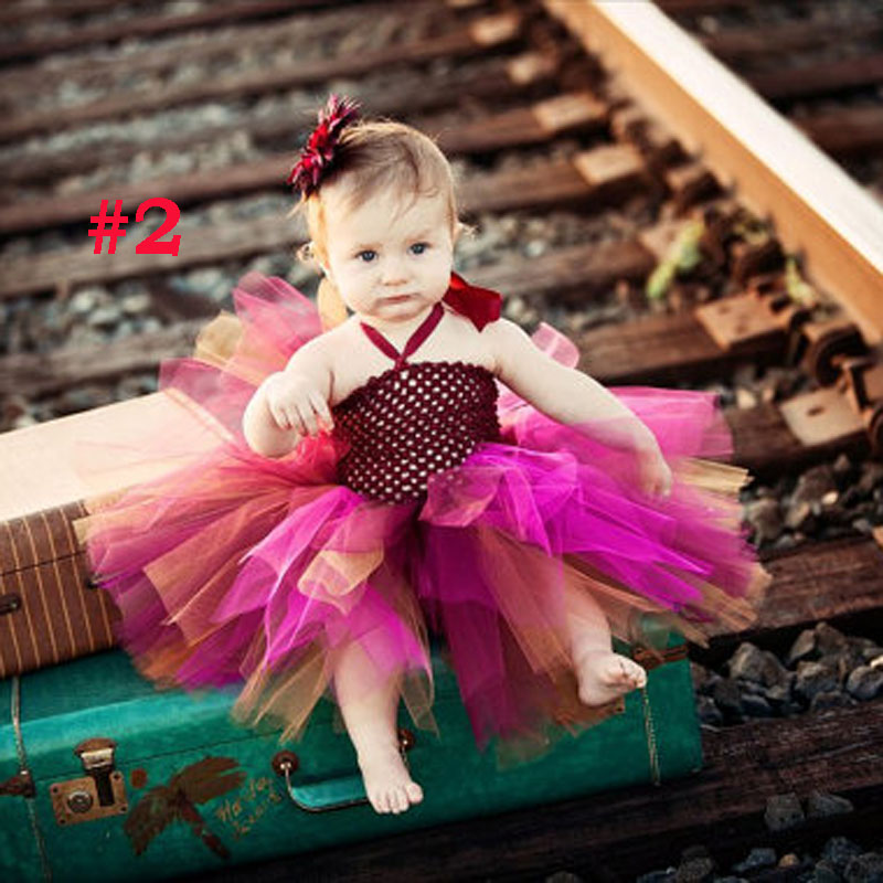 Kids Toddler Baby Girls Princess Flower Party Dress Sweet Skirts Outfit Headband