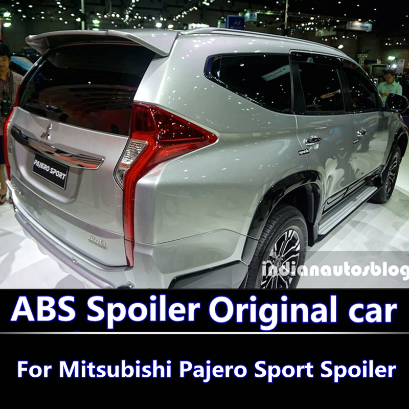For mitsubishi pajero sport 2016-2017 Spoiler high quality ABS Material Car Rear Wing Primer Color Rear Spoiler Modified spoiler for lancer ex 2010 2016 spoiler high quality abs material car rear wing primer color rear spoiler for mitsubishi lancer spoiler