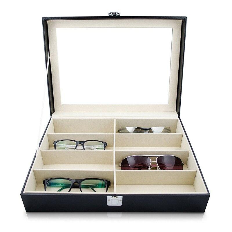 NOCM-Eyeglass Sunglass Storage Box Gafas de cuero de imitación - Organización y almacenamiento en la casa