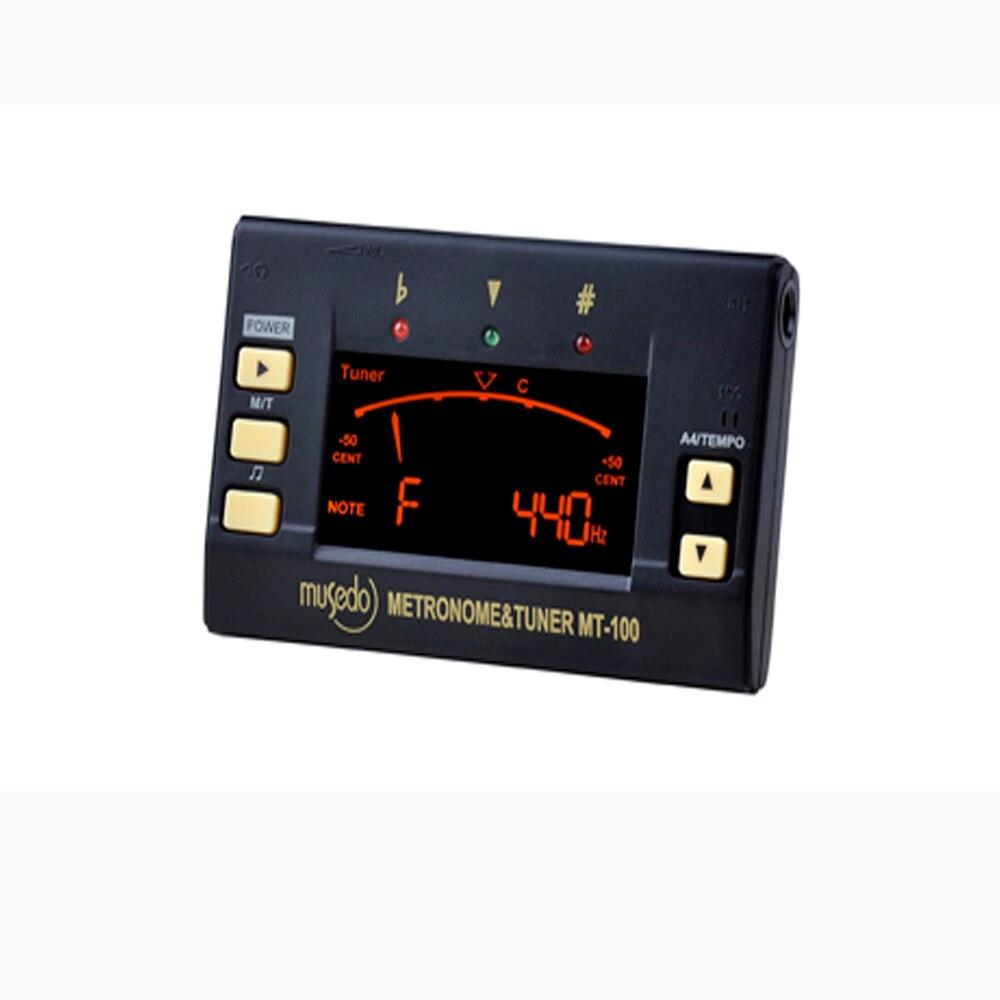 Musedo MT-100 Metro-Tuner with Tone Generator 3-in-1 Metro-Tuner for Guitar/Bass/Violin/Ukulele Key C