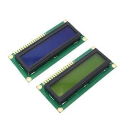 ЖК-дисплей 1602 1602 Модуль синий зеленый экран 16x2 символа ЖК-дисплей Дисплей модуль HD44780 контроллер цвет синий, черный; Большие размеры 34–43