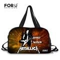 FORUDESIGNS Designer Men Carry On Luggage Bag Metallica Skull Print Multifunction Male Handbag Large Capacity Travel Duffel Bag