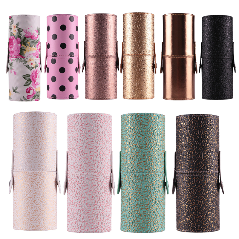 10 Colors PU Leather Travel Cosmetic Brushes Pen Holder Storage Empty Holder Makeup Artist Bag Brushes Organizer Make Up Tools pu leather travel makeup brushes pen holder storage empty zipper case cosmetic brush bag brushes organizer make up tools