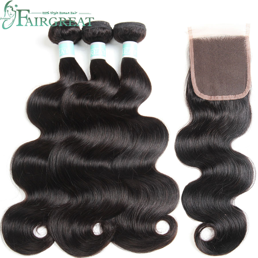 Body Wave Bundles With Closure Brazilian Hair Weave Bundles Human Hair Bundles With Closure Remy Hair