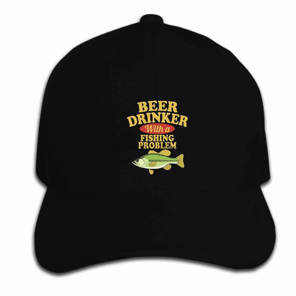 Impresión de encargo gorra de béisbol Hip Hop bebedor de cerveza con una  pesca problema sombrero 30e4f84669d