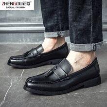 zhengou 2019 Men Dress Shoes Handmade Brogue Style Paty Leather Wedding Flats Oxfords Formal