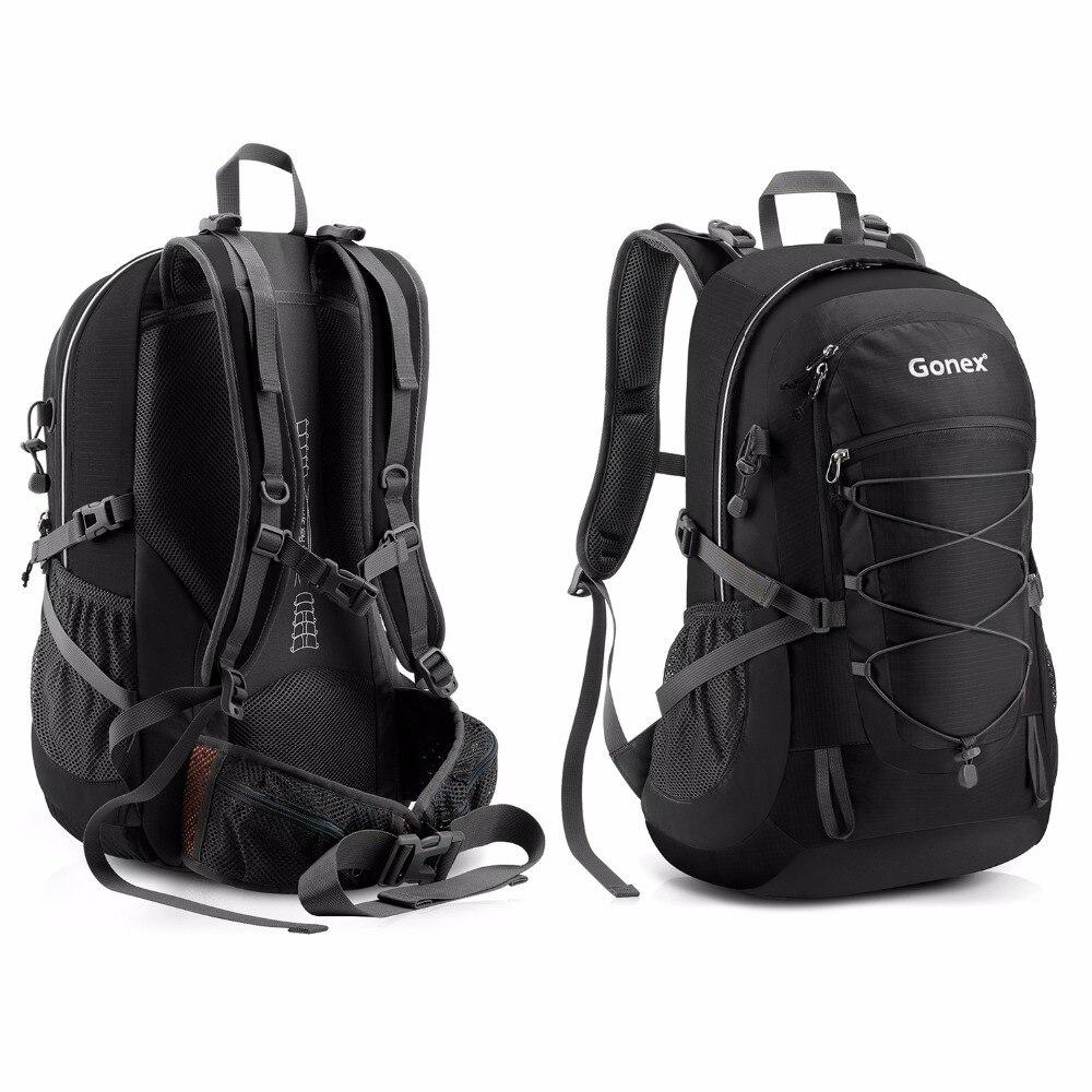 Gonex 35L sac à dos randonnée Camping extérieur Trekking sac à dos housse de pluie incluse Nylon résistant à l'eau - 5