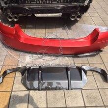 F10 M5 DTM Стиль углеродного волокна задний бампер для губ Диффузор для BMW F10 M5 бампер 2011- стайлинга автомобилей