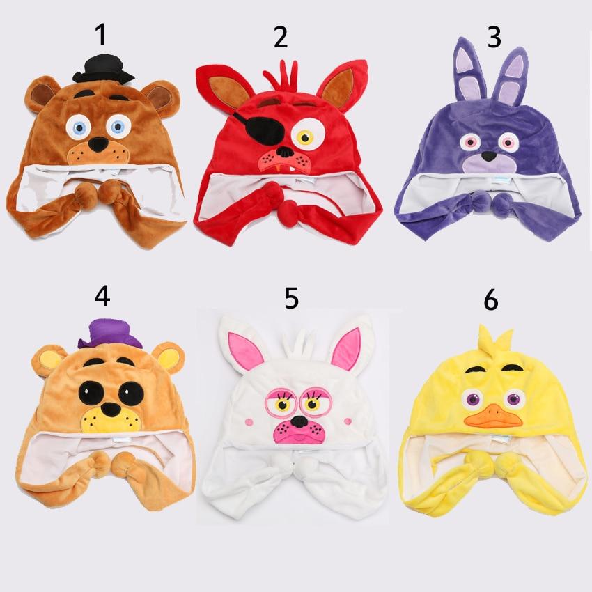 Kids Costumes & Accessories Five Nights At Freddys Fnaf Plush Toy Freddy Fazbear Foxy Bonnie Chica Beanie Hat Winter Ear Protector Cap Warm Fluffy Earflap