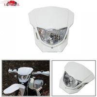 LJBKOALL Universal High Low Beam White Headlight For Honda CRF50F CRF70F CRF80F CRF100F Dirt Bike Streetfight Headlight Fairing