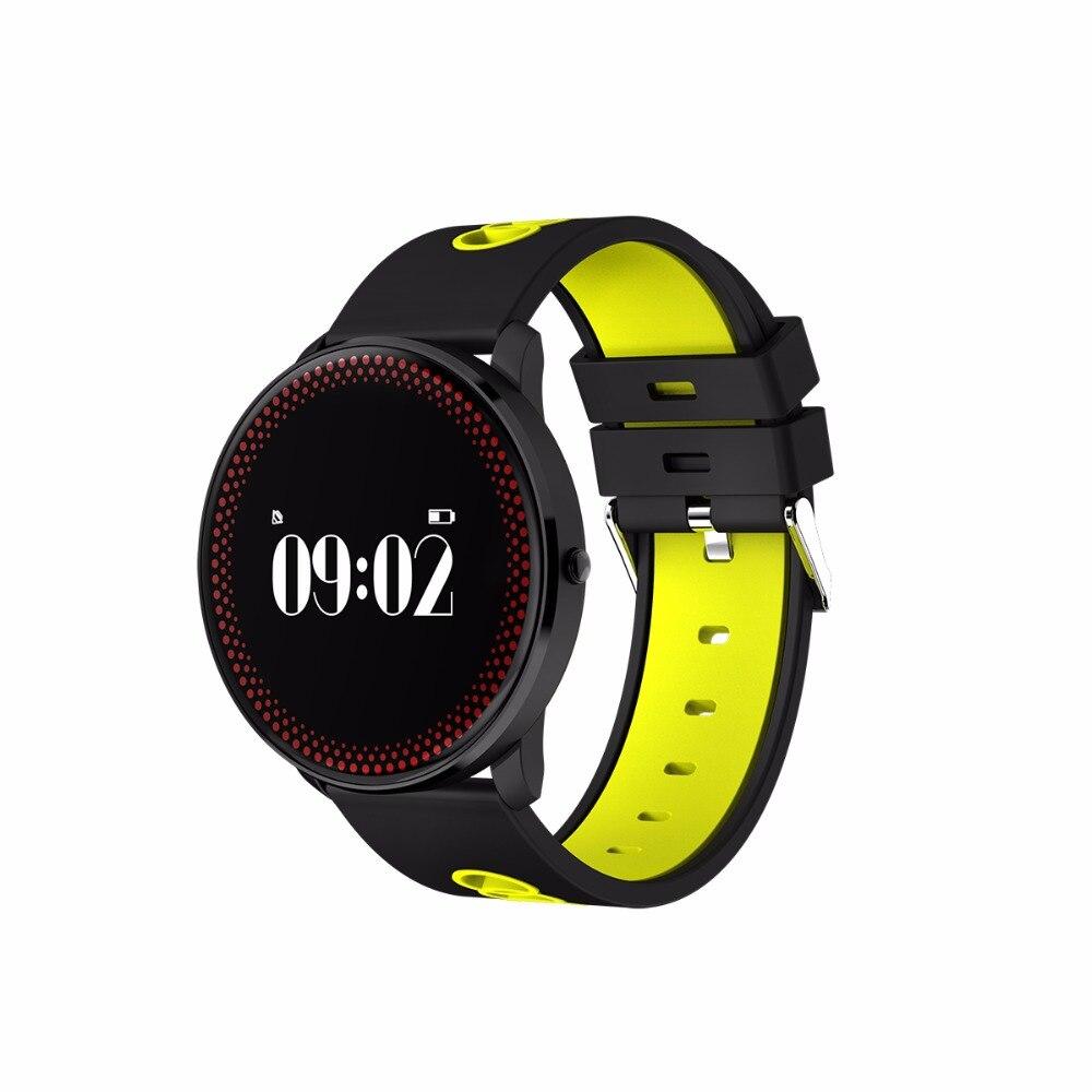 Smartch CF007 banda Smart relojes presión arterial Monitor de frecuencia cardíaca IP67 impermeable pulsera para Android IOS teléfono
